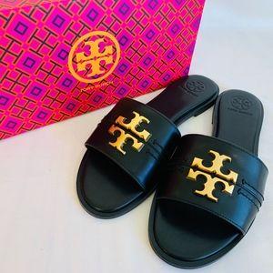 Tory Burch NIB Everly Slide Sandals Leather